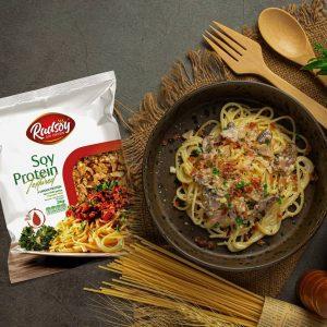 اسپاگتی گوجه فرنگی با سویا